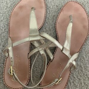 Lilly Pulitzer Leather Sandals Size 7